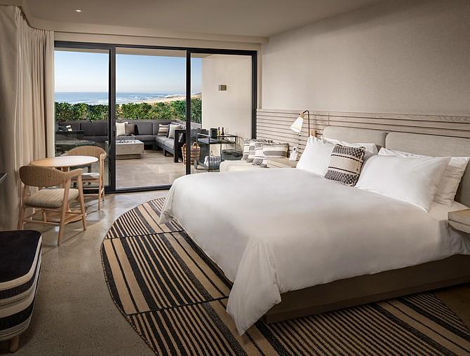 A bedroom at the Alila Marea Beach Resort Encinitas. Photo courtesy of Hyatt Hotels Corp.