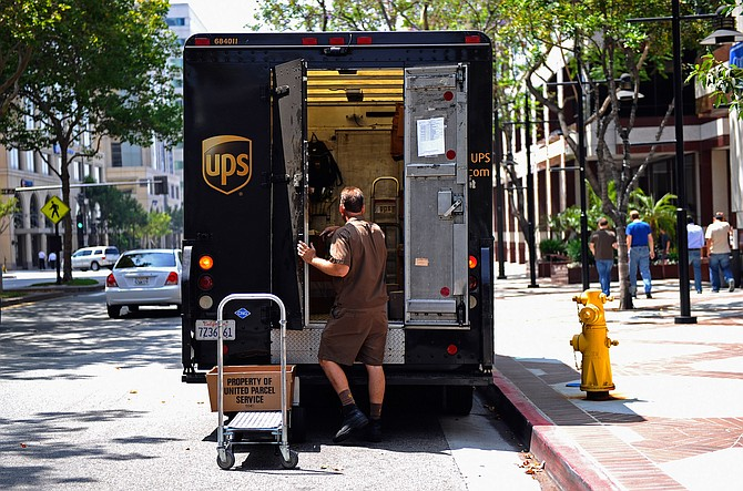UPS has added about 3,500 workers in L.A. County in the past year.