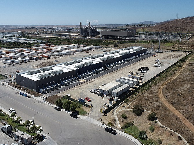 Photo courtesy of LS Power. LS Power's Gateway Energy Storage project, in the eastern portion of Otay Mesa, is the world's largest battery.