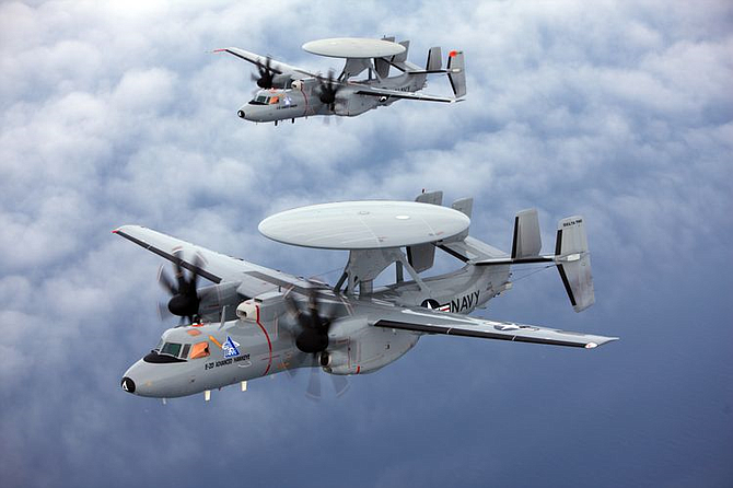 U.S. Navy's E-2D Advanced Hawkeye aircraft, which will use the new navigation system.