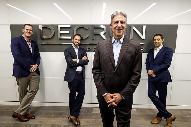 (From left) Joe Coleman, COO; Daniel Nagel, CFO; David Nagel, CEO; and Zev Nagel, EVP of acquisitions, at Decron Properties.