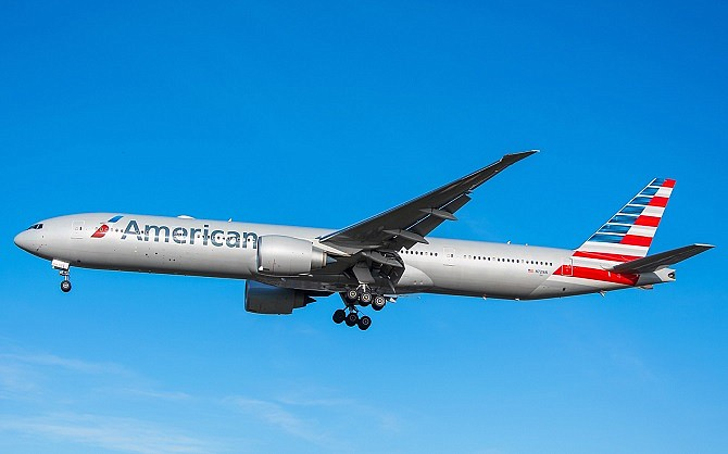American Airlines uses Boeing 777-300 ER aircraft on its LAX to Sydney flight. Photo courtesy of Boeing