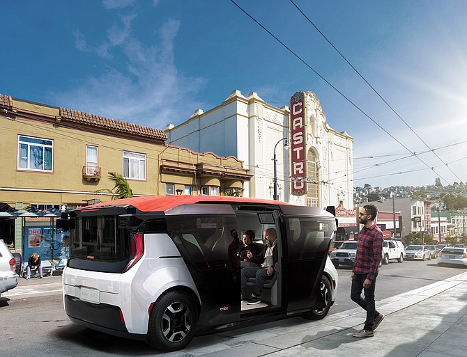 Honda and GM unveiled Cruise Origin, a self-driving shuttle, this year.