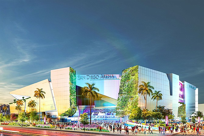 Brookfield Properties and ASM Global are refining plans for redevelopment of the 48-acre Sports Arena site that would include an entertainment district. Photo courtesy of Brookfield Properties.