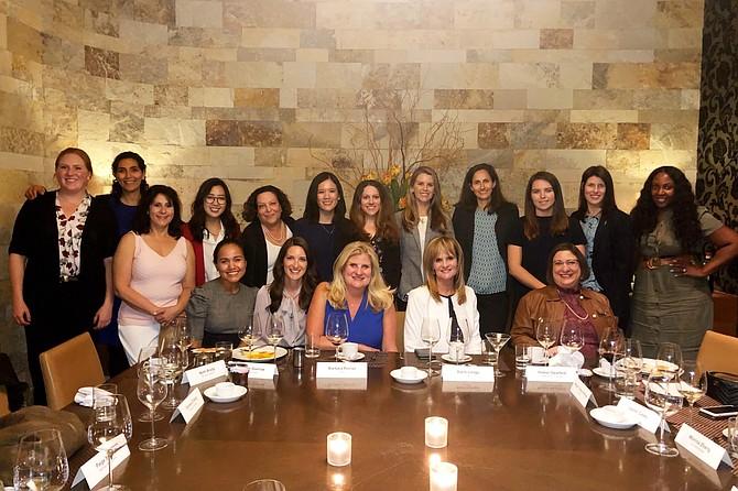 Women gather at a pre-Covid UCLA Real Estate Alumni Group event.