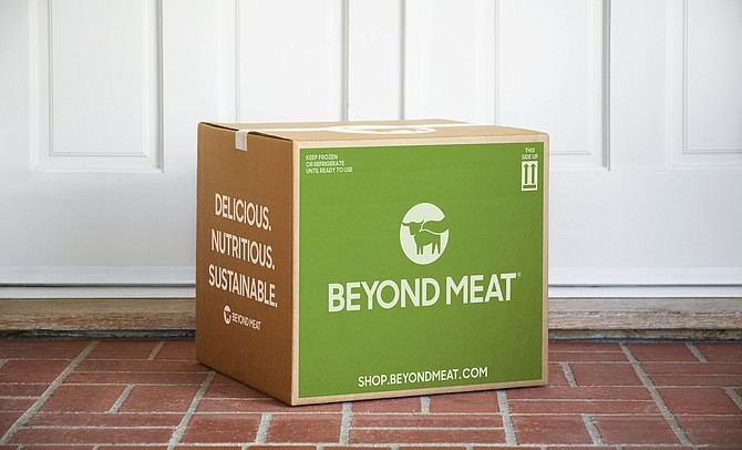 Beyond Meat offers bulk shipments in recyclable containers.