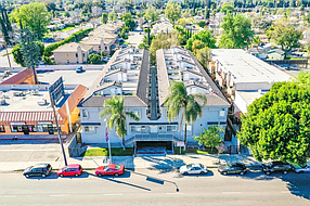 Condominium complex at 9919 Sepulveda Blvd. in Mission Hills.
