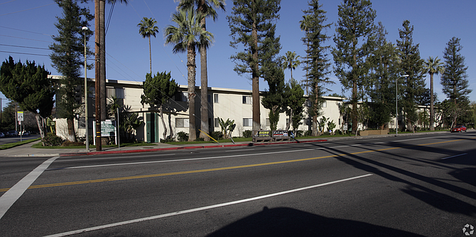 Apartment complex at 6251-6267 Reseda Blvd. in Tarzana.
