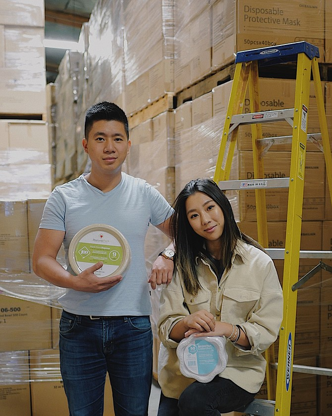 Harvest Pack co-founders Christina Pou and Alex Pou.