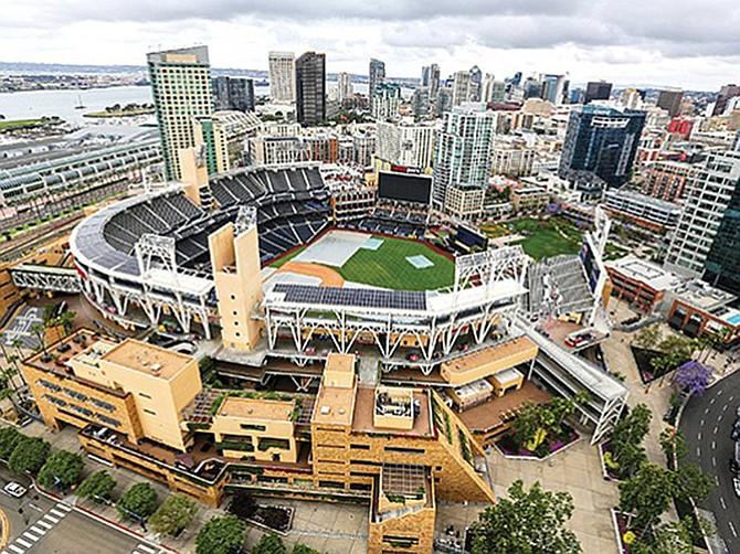 File photo by Jamie Scott Lytte. Petco Park was chosen to host Major League Baseball American League postseason play.
