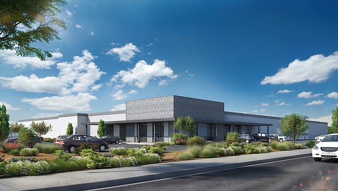 Rendering of planned renovations for Santa Fe Springs site.