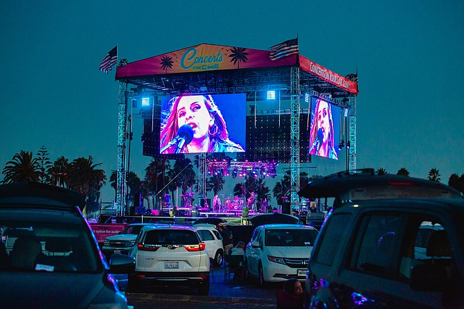 The Del Mar Fairgrounds has begun a drive-in concert series in partnership with Ventura-based CBF Productions. Photo courtesy of Del Mar Fairgrounds.