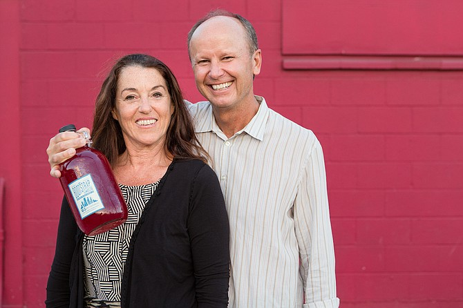 Susan McMillion and James Farnworth of Bootstrap Kombucha. Photo courtesy of Bootstrap Kombucha LLC.