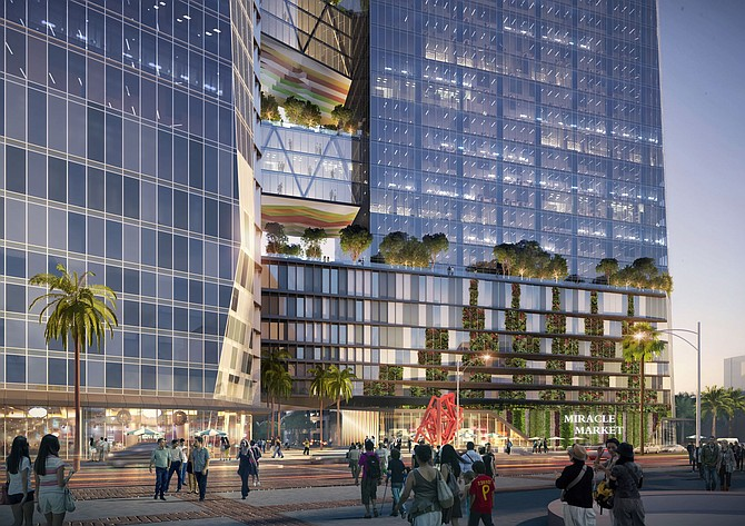 The Wilshire Courtyard will get two new high-rises, tripling its space to more than 3 million square feet.