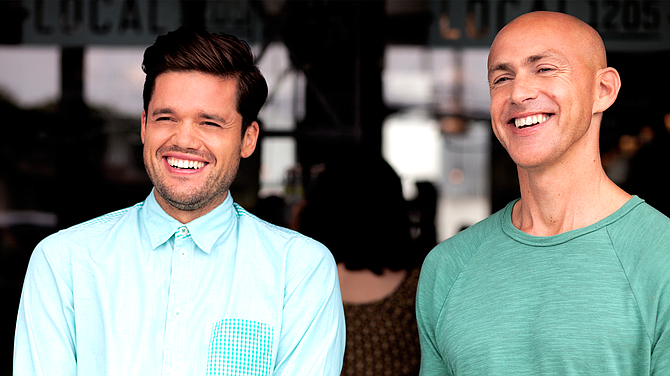 Headspace co-founders Rich Pierson and Andy Puddicombe.