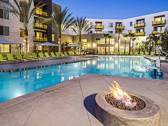Photos courtesy of Pierce Education Properties. Student housing, including BLVD 63 at San Diego State University and owned by Pierce Education Properties, often comes with many amenities.