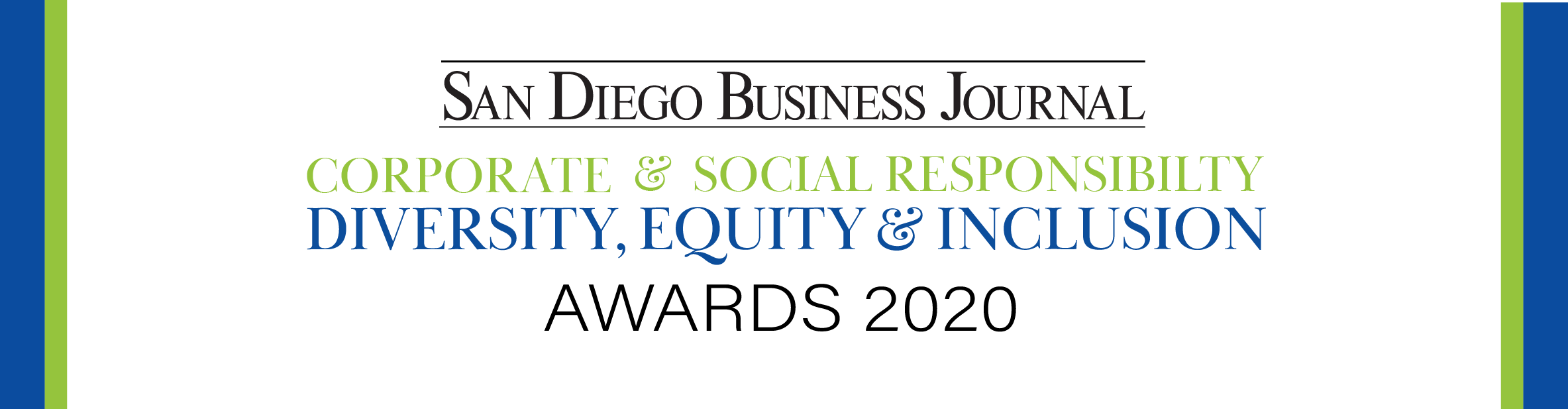 San Diego Business Journal Corporate & Social Responsibility, Diversity & Inclusion Awards 2020