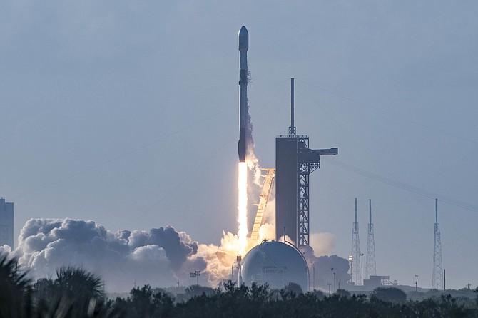 SpaceX's Falcon 9 rocket launched on Oct. 18.