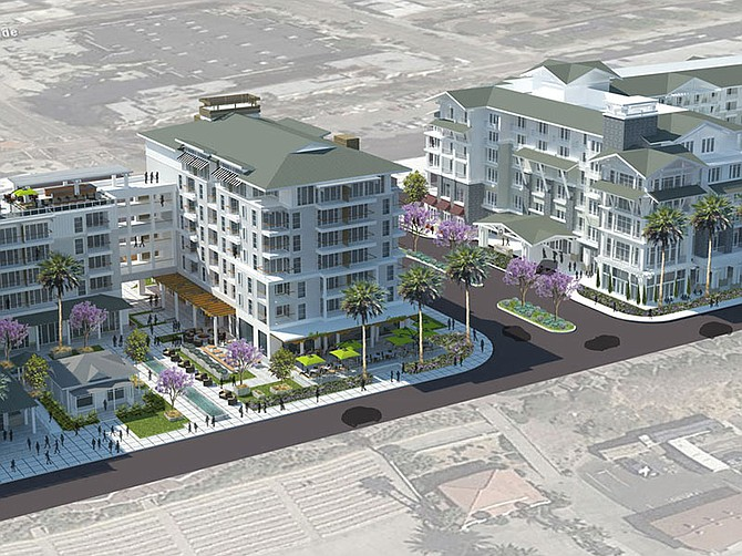 Photo courtesy of Oceanside Beach Resort Owner LLC. Mission Pacific Hotel and The Seabird Resort are both scheduled to open in spring 2021. They are located in Oceanside on Pacific Street near Mission Avenue.
