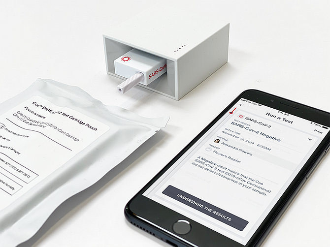 Photo courtesy of Cue Health Inc.