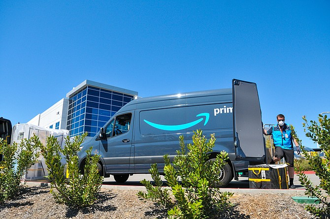 Busy: Amazon facility in Conejo Spectrum business park in Thousand Oaks.