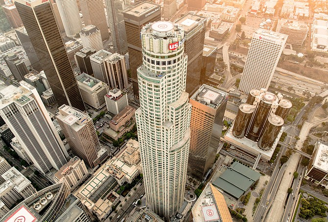 The U.S. Bank Tower was the tallest building on the West Coast when it opened in 1989.