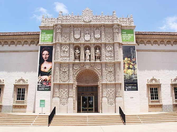 Photo courtesy of the San Diego Museum of Art. The San Diego Museum of Art, founded in 1925 and headquartered in Balboa Park, carries 25,000 works of art.