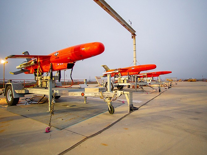 Photo courtesy of Kratos Defense & Security Solutions Inc. A trio of subsonic aerial targets built by Kratos Defense. Kratos received a $29.2 million order for 35 such unmanned aircraft.