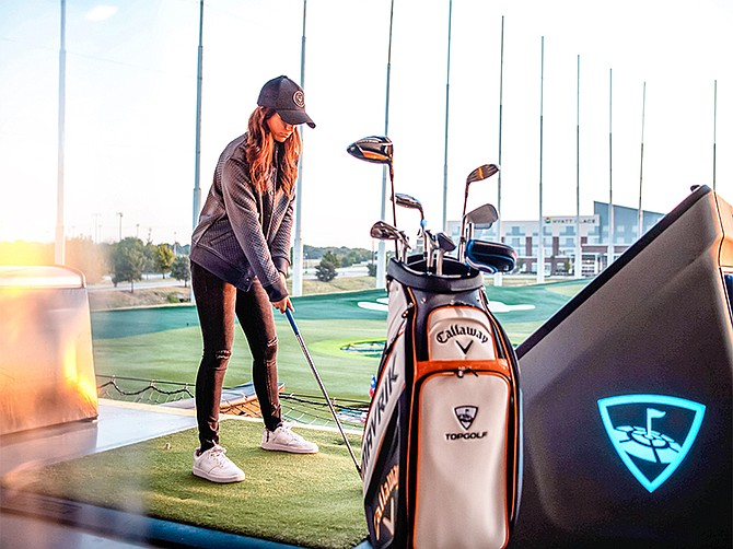 Photo courtesy of Callaway Golf Co. Topgolf offers a driving range experience enhanced by technology. Callaway Golf Co. has purchased Topgolf in a deal expected to close in early 2021.