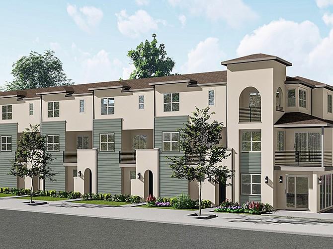 Rendering courtesy of Meridian Communities. Meridian Communities' Poway Project will include three distinct neighborhoods.