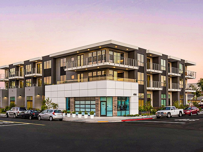 Photo courtesy of BV Architecture + Development. Modern Kansas is a North Park infill project located on Kansas Street.