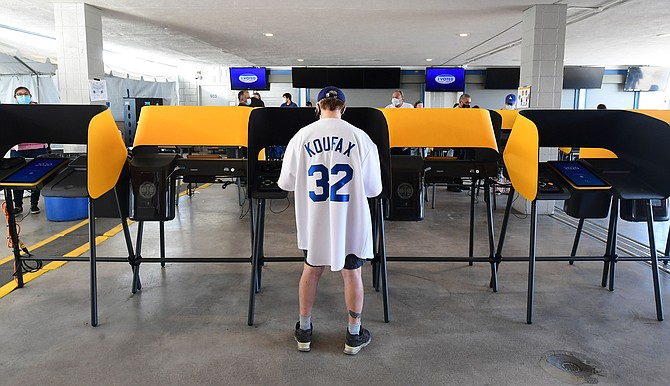 L.A. voters got to cast ballots at places like Dodger Stadium this year.