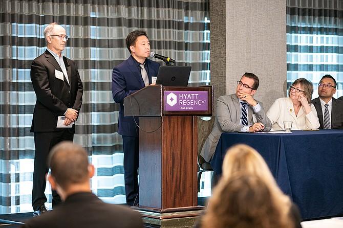 Sunstone's John Shen at a Long Beach Accelerator reception.
