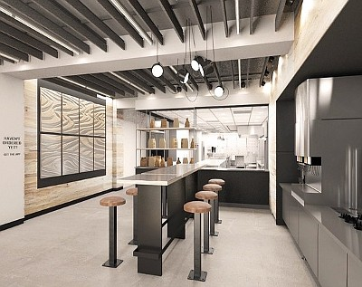 A rendering of the Chipotle Digital Kitchen