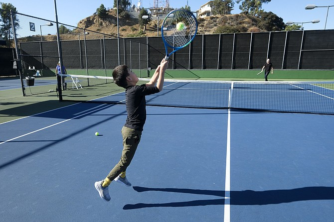 Mulholland Tennis Club students get practice time.
