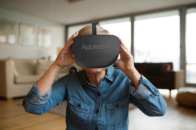 AppliedVR's digital wellness platform eases pain and anxiety.