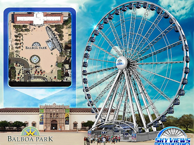 Cohn Restaurant Group is vying to bring a 148-foot tall observation wheel to Plaza de Panama in Balboa Park.