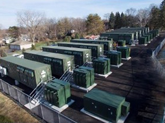 Photo courtesy of Voit Real Estate Services. Warehouses would be used to store batteries the size of shipping containers stacked on top of each other.