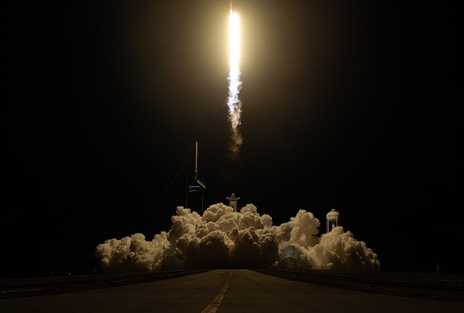 The SpaceX rocket launched Nov. 16 from the Kennedy Space Center in Cape Canaveral, Fla.