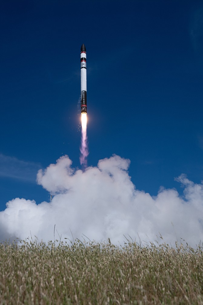 Rocket Lab's Electron spacecraft in flight.