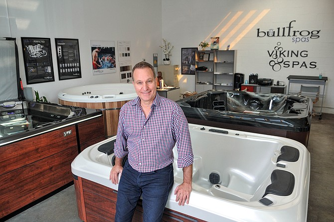California Hot Tubs' Bruce Gold said demand for hot tubs surged in April and stayed that way until October.