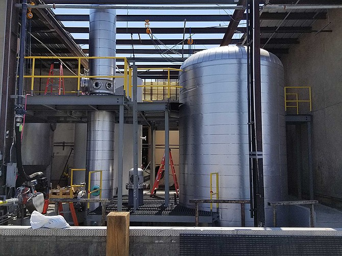Photo courtesy of New Leaf Biofuel. New Leaf Biofuel LLC is expanding its production facility in Barrio Logan, increasing its capacity from 5M to 12M gallons.