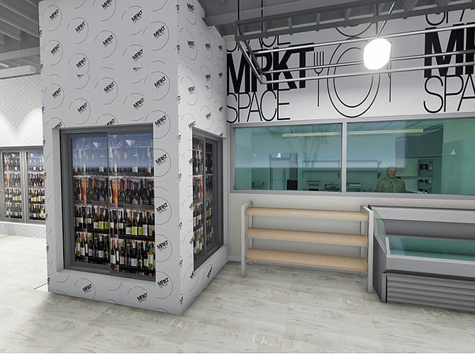 Rendering courtesy of MRKTSPACE. MRKTSPACE will open its first stateside location in Encinitas in May 2021. The concept is an upscale convenience store.