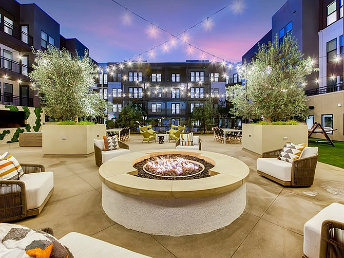 Photos courtesy of StreetLights Residential. The Rylan recently opened in downtown Vista with 126 apartments and ground-floor commercial space.