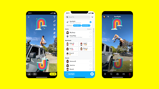 Snap will pay makers of popular videos in its Spotlight platform.