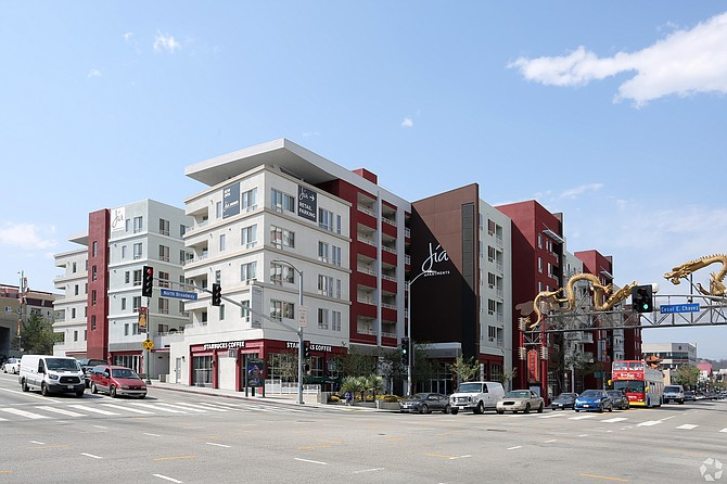 In Chinatown, CBRE's Derrick Moore worked on a lease at 639 N. Broadway.