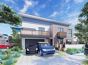 Rendering courtesy of DBRDS. Breezeline housing development owes its eye-catching design to Australian-born architect Pauly De Bartolo.