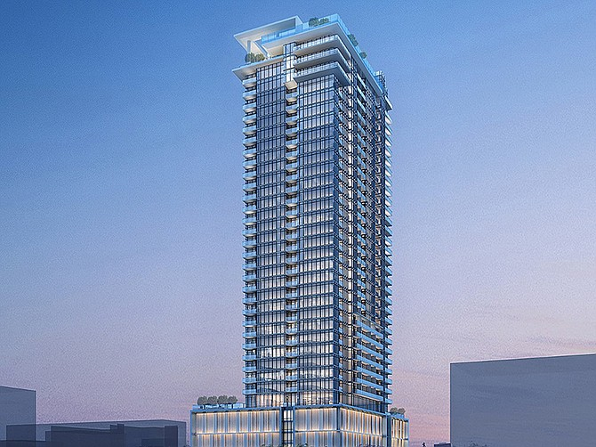 Rendering courtesy of Trammell Crow Residential. Trammell Crow Residential is building a 36-story apartment tower in Little Italy.