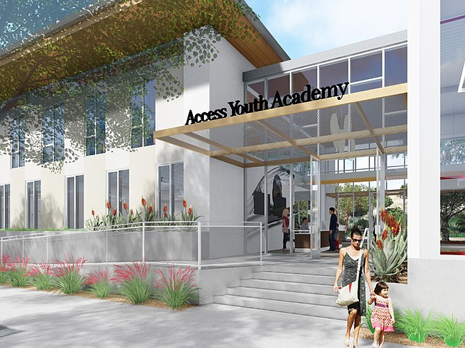 Renderings courtesy of Pacific Building Group. Access Youth Academy is building a $12 million squash training and education center.