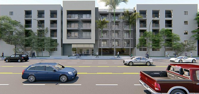 Rendering of 7334 North Topanga Residences in Canoga Park.